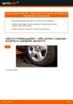Kuinka vaihtaa pyöränlaakerit eteen Opel Astra H Caravan-autoon – vaihto-ohje