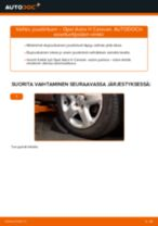 Kuinka vaihtaa joustintuki eteen Opel Astra H Caravan-autoon – vaihto-ohje