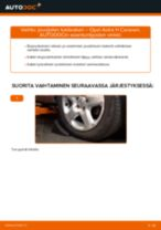 Kuinka vaihtaa jousijalan tukilaakeri eteen Opel Astra H Caravan-autoon – vaihto-ohje