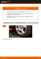 Jak zmienić Drążek wspornik stabilizator OPEL ASTRA: darmowy pdf