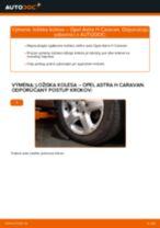 Výmena Lozisko kolesa OPEL ASTRA: dielenská príručka