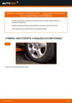 Ako vymeniť predné horné uloženie tlmiča na Opel Astra H Caravan – návod na výmenu