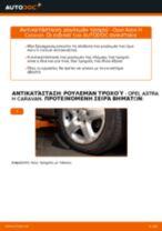 Πώς να αλλάξετε ρουλεμάν τροχού εμπρός σε Opel Astra H Caravan - Οδηγίες αντικατάστασης