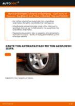 Πώς να αλλάξετε γόνατο ανάρτησης εμπρός σε Opel Astra H Caravan - Οδηγίες αντικατάστασης