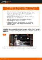 Αλλαγή Τακάκια Φρένων OPEL ASTRA: εγχειριδιο χρησης