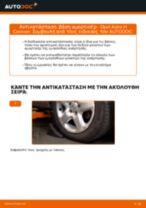 Πώς να αλλάξετε βάση αμορτισέρ εμπρός σε Opel Astra H Caravan - Οδηγίες αντικατάστασης