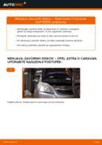Kako zamenjati avtodel zavorni diski spredaj na avtu Opel Astra H Caravan – vodnik menjave