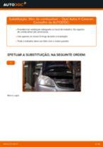 Como mudar filtro de combustível em Opel Astra H Caravan - guia de substituição