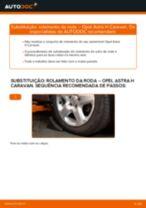 Como mudar rolamento da roda da parte dianteira em Opel Astra H Caravan - guia de substituição