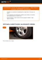 Como mudar tirante da barra estabilizadora da parte dianteira em Opel Astra H Caravan - guia de substituição