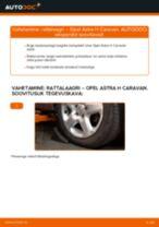 Kuidas vahetada Opel Astra H Caravan esi-rattalaagri – õpetus