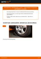 Kuidas vahetada Opel Astra H Caravan esi-stabilisaatori varras – õpetus