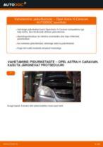 Kuidas vahetada Opel Astra H Caravan esi-piduriketaste – õpetus