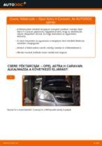 Elülső féktárcsák-csere Opel Astra H Caravan gépkocsin – Útmutató