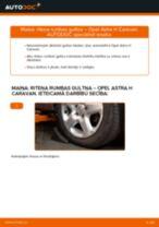 OPEL ASTRA Ķīļrievu siksna maiņa: bezmaksas pdf