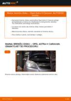Kā nomainīt: priekšas bremžu diskus Opel Astra H Caravan - nomaiņas ceļvedis