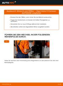 Wie der Wechsel durchführt wird: Ölfilter 1.6 (L35) Astra H Caravan tauschen