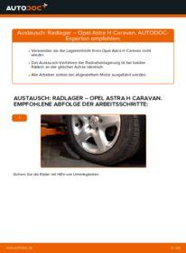 Wie der Wechsel durchführt wird: Radlager 1.6 (L35) Astra H Caravan tauschen