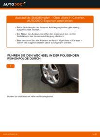 Wie der Wechsel durchführt wird: Stoßdämpfer 1.6 (L35) Opel Astra H Caravan tauschen
