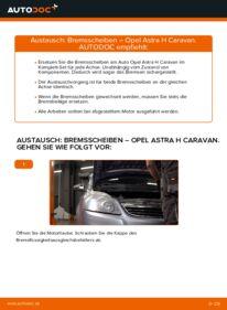 Wie der Wechsel durchführt wird: Bremsscheiben 1.6 (L35) Opel Astra H Caravan tauschen