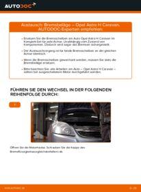 Wie der Wechsel durchführt wird: Bremsbeläge 1.6 (L35) Opel Astra H Caravan tauschen