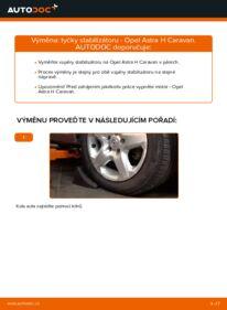 Jak provést výměnu: Zkrutna tyc na 1.6 (L35) Astra H Caravan