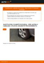 Cómo cambiar: cojinete de rueda de la parte trasera - Opel Astra H Caravan | Guía de sustitución
