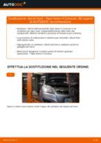 Come cambiare dischi freno della parte posteriore su Opel Astra H Caravan - Guida alla sostituzione