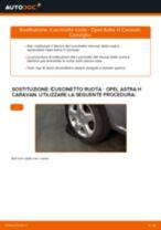 Cambiare Ganasce Freno a Mano OPEL ASTRA: manuale tecnico d'officina
