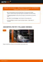 Hur byter man och justera Bromsskiva OPEL ASTRA: pdf instruktioner