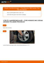 Hur byter man och justera Handbromswire : gratis pdf guide