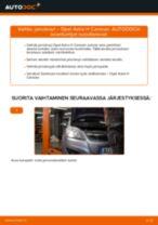 Kuinka vaihtaa jarrulevyt taakse Opel Astra H Caravan-autoon – vaihto-ohje