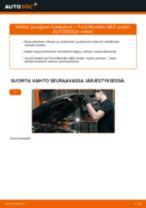 Kuinka vaihtaa jousijalan tukilaakeri eteen Ford Mondeo Mk3 sedan-autoon – vaihto-ohje