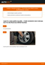 Kuinka vaihtaa käsijarruvaijeri Ford Mondeo Mk3 sedan-autoon – vaihto-ohje