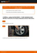 Jak vyměnit lanka ruční brzdy na Ford Mondeo Mk3 sedan – návod k výměně