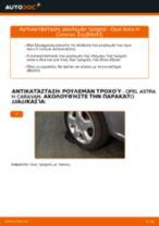 Πώς να αλλάξετε ρουλεμάν τροχού πίσω σε Opel Astra H Caravan - Οδηγίες αντικατάστασης