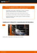 Kako zamenjati avtodel zavorni diski zadaj na avtu Opel Astra H Caravan – vodnik menjave