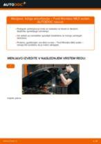 Kako zamenjati in prilagoditi Nosilec amortizerja FORD MONDEO: vodnik pdf