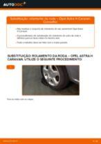 Como mudar rolamento da roda da parte traseira em Opel Astra H Caravan - guia de substituição