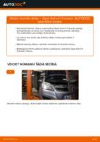 Kā nomainīt: aizmugures bremžu diskus Opel Astra H Caravan - nomaiņas ceļvedis