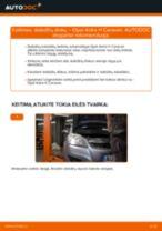 Kaip pakeisti Opel Astra H Caravan stabdžių diskų: galas - keitimo instrukcija