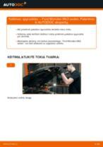 Kaip pakeisti Ford Mondeo Mk3 sedan spyruoklės: priekis - keitimo instrukcija