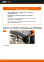 Kuinka vaihtaa raitisilmasuodatin Mercedes Vito W639-autoon – vaihto-ohje