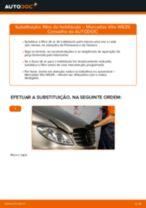 Quando mudar Maxilas do travão de estacionamento MERCEDES-BENZ VITO Bus (W639): pdf manual