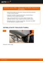 Pakeisti Oro filtras, keleivio vieta MERCEDES-BENZ VITO: instrukcija