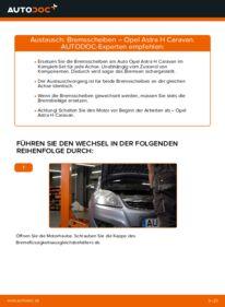 Wie der Wechsel durchführt wird: Bremsscheiben 1.6 (L35) Astra H Caravan tauschen