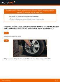 Cómo realizar una sustitución de Cable De Freno De Mano en un FORD MONDEO