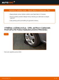 Jak provést výměnu: Lozisko kola na 1.6 (L35) Astra H Caravan