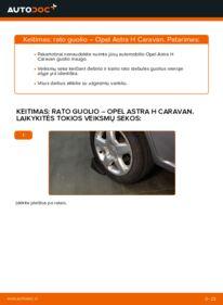 Kaip atlikti keitimą: 1.6 (L35) Astra H Caravan Rato guolis