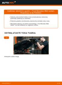 Kaip atlikti keitimą: 2.0 TDCi Ford Mondeo mk3 Sedanas Amortizatoriaus Atraminis Guolis